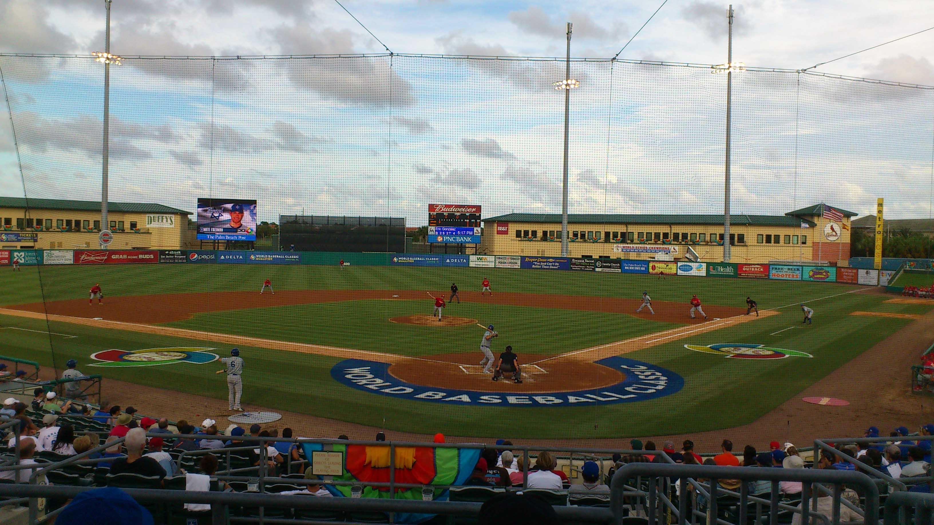 Le magnifique terrain de la World Baseball Classic Qualifier 2013 à Jupiter en Floride (USA)
