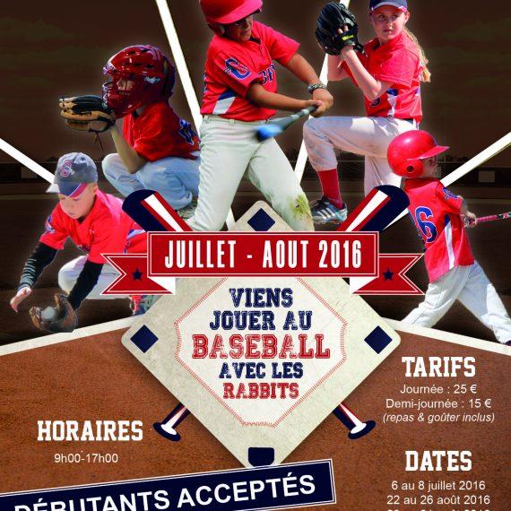 Stage de Baseball – été 2016